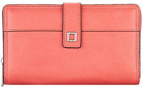 Lodis Italian Leather Large RFID Checkbook Zip Wallet