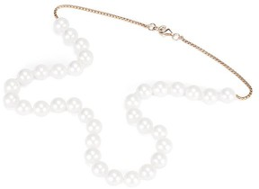 Aspinal of London White Sea Shell Pearl Necklace