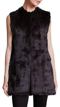Adrienne Landau Oversized Rabbit Fur Vest