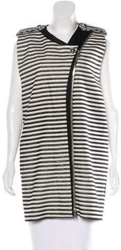 Bouchra Jarrar Striped Long Vest