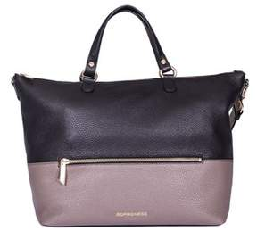 Borbonese Women's Black Leather Tote.