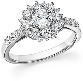 Bloomingdale's Diamond Halo Engagement Ring in 14K White Gold, 1.30 ct. t.w. - 100% Exclusive
