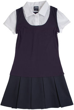 JCPenney French Toast 2-in-1 Pleated Dress - Preschool Girls 4-6x