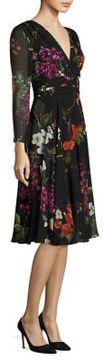 Escada Dissina Floral-Print Silk Dress