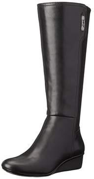 Anne Klein Sport Women's Durwyn Synthetic Knee High Wedge Boots.