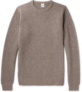 Aspesi Ribbed Wool, Yak And Cashmere-Blend Sweater