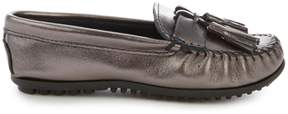 Minnetonka Grace Metallic Leather Moccasin Loafer
