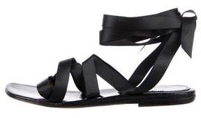Dries Van Noten Satin Crossover Sandals