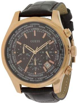 GUESS Leather Chronograph Mens Watch W0500G3