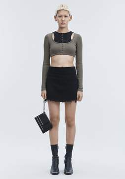 Alexander Wang ZIP MINI SKIRT DENIM