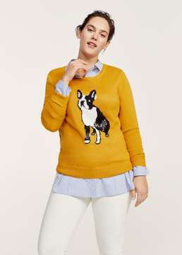 Violeta BY MANGO Sequin embroidery sweater