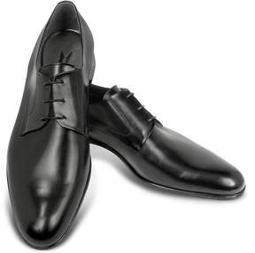 Moreschi Liverpool Black Leather Derby Shoes