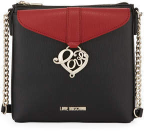 Love Moschino Faux-Saffiano-Leather Crossbody Bag