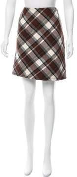 Aquilano Rimondi Aquilano.Rimondi Wool Plaid Skirt