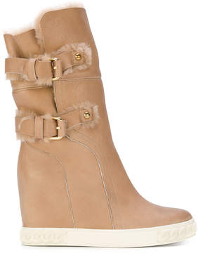 Casadei buckle strapped snow boots