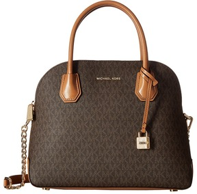 MICHAEL Michael Kors Mercer Large Dome Satchel Satchel Handbags - BROWN - STYLE