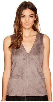 Bishop + Young Suede V-Neck Women's Clothing