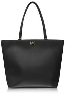 Michael Kors Women's Black Leather Tote. - BLACK - STYLE
