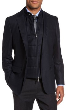 BOSS Men's Hadwart Trim Fit Stretch Wool Blend Blazer