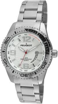 Peugeot Mens Stainless Steel Sport Watch