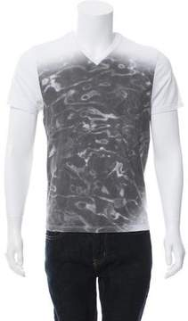 Calvin Klein Collection Bubble Print V-Neck T-Shirt