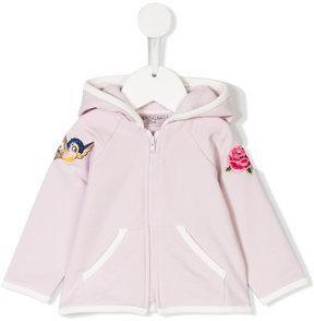 MonnaLisa embroidered zipped sweatshirt