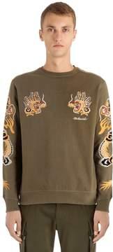 MHI Dragon Embroidered Jersey Sweatshirt