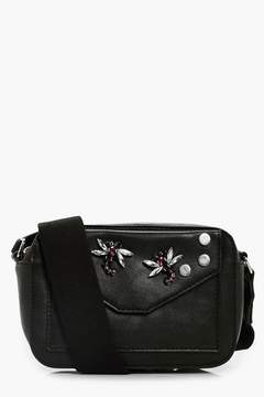 boohoo Embellished Insect Camera Bag