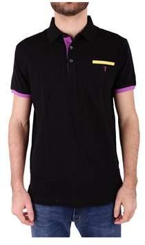 Trussardi Men's Black Cotton Polo Shirt.