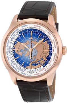 Jaeger-LeCoultre Jaeger Lecoultre Geophysic Universal Time Automatic Blue Lacquer Dial 18kt Pink Gold Men's Watch