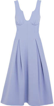 Emilia Wickstead Astra Wool-crepe Midi Dress - Sky blue