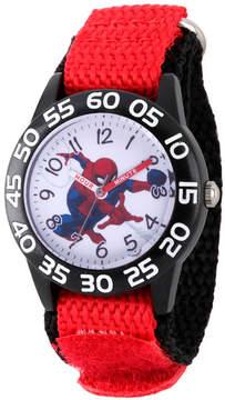 Marvel Spiderman Boys Red Strap Watch-Wma000174
