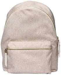 Borbonese Women's Beige Polyester Backpack.