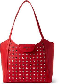 Patrizia Pepe Crystal & Cone Studded Red Shopper Bag