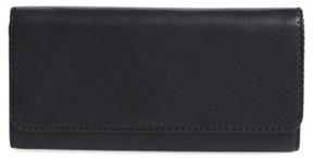 Women's Hobo 'Era Wristie' Leather Wristlet - Black
