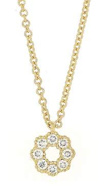Bony Levy 18K Yellow Gold Diamond Flower Pendant Necklace