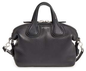 Givenchy Micro Nightingale Leather Satchel - Black