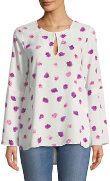 Cynthia Steffe Cece By Beautiful Petals Crepe Bell-Sleeve Blouse