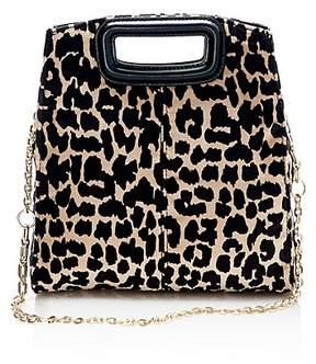 Maje Leopard Print Convertible Shoulder Bag