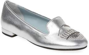 Chiara Ferragni Women's Perforated Metallic Loafer