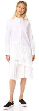 Clu Asymmetrical Paneled Button Up Dress
