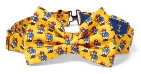 Polo Ralph Lauren Bear Silk Bow Tie Yellow One Size