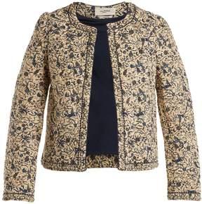 Etoile Isabel Marant Hustin floral-print quilted cotton-blend jacket