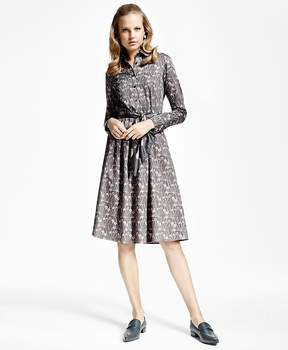Brooks Brothers Botanical-Print Cotton Sateen Shirtdress
