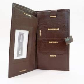 Blade + Blue Vintage Brown Leather Travel Wallet