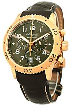 Breguet Transatlantique Type XXI Flyback Chronograph 18K Rose Gold Mens Watch