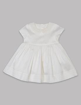 Marks and Spencer Peter Pan Collar Christening Baby Dress