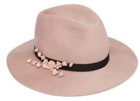 Eugenia Kim Georgina Rose-Embellished Wool Fedora