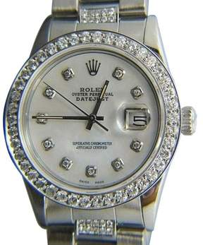 Rolex Datejust Stainless Steel White Mother of Pearl Dial 36mm Watch