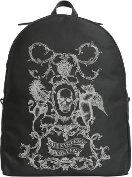 Alexander McQueen Coat Of Arms Printed Backpack